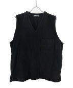 nestrobe confect(ネストローブ コンフェクト)の古着「ルーズデニムプルオーバーベスト」 ブラック