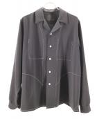 bukht(ブフト)の古着「ニューオープンカラーシャツ」 ブラック