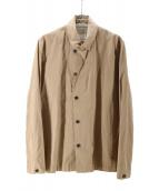 STEPHAN SCHNEIDER(ステファンシュナイダー)の古着「コットンシングルジャケット」|ベージュ