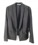 T by ALEXANDER WANG(ティーバイアレキサンダーワン)の古着「サテンジャケット」|ブラック