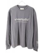 VIVASTUDIO × WIND AND SEA(ビバスタジオ×ウィンダンシー)の古着「コーポレートL/S Tシャツ」 ブラック