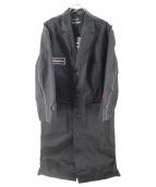 both × Second Layer(ボース×セカンドレイヤー)の古着「コットンツイルテクニシャンコート」|ブラック