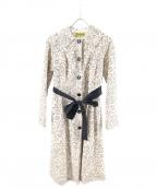 Jocomomola(ホコモモラ)の古着「フラワーステンカラーコート」|アイボリー