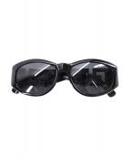 GIANNI VERSACE(ジャンニヴェルサーチ)の古着「テンプルデザインサングラス」|ブラック
