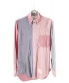 Thom Browne(トムブラウン)の古着「パッチワークシャツ」|レッド×ブルー