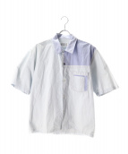 Maison Margiela 10(メゾン マルジェラ 10)の古着「カットオフデザイン半袖シャツ」|ブルー