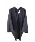 KURO(クロ)の古着「ルーズデニム羽織」|ブラック