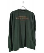 Palm Angels(パームエンジェルス)の古着「ロゴロングスリーブTシャツ」|グリーン