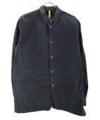 MAN-TLE(マントル)の古着「パラフィンワックスコーティングレギュラーシャツ」|ブラック