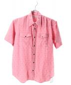 ()の古着「プリントレーヨンカウボーイシャツ」 ピンク