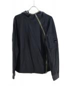 C.P COMPANY(シーピーカンパニー)の古着「アシンメトリープルオーバーパーカー」|ブラック