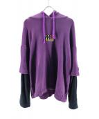 MYNE(マイン)の古着「Docking hoodie」|パープル