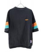 MYNE(マイン)の古着「mesh T-shirt」|ブラック