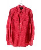 RRL(ダブルアールエル)の古着「コンチョボタン矢柄ウエスタンシャツ」|レッド