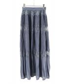 FRAY ID(フレイアイディー)の古着「レースコンビニットスカート」|ネイビー