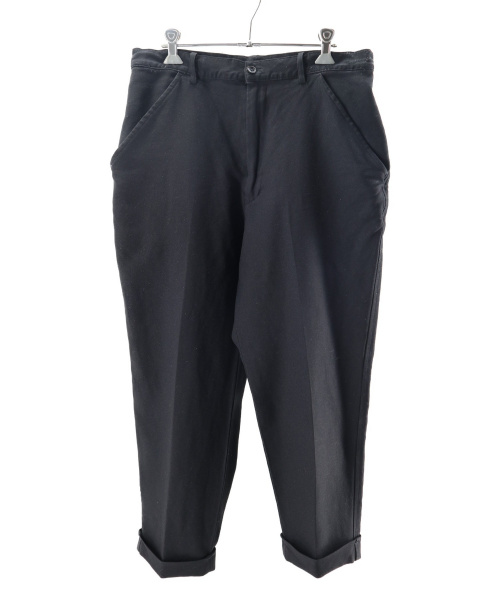 BLACK COMME des GARCONS(ブラックコムデギャルソン)BLACK COMME des GARCONS (ブラックコムデギャルソン) ワイドパンツ ブラック サイズ:Lの古着・服飾アイテム
