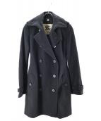 BURBERRY LONDON(バーバリーロンドン)の古着「カシミヤ混メルトントレンチコート」|ブラック