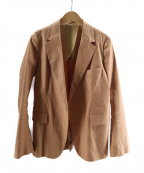BACCA(バッカ)の古着「リヨセンリネンストレッチテーラードジャケット」|オレンジ