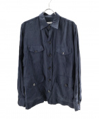 Errico Formicola(エリコフォルミコラ)の古着「4ポケットサファリシャツジャケット」|ネイビー