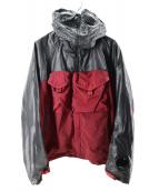 C.P COMPANY(シーピーカンパニー)の古着「切替ゴーグルジャケット」|レッド