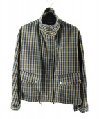 FRED PERRY(フレッドペリー)の古着「ガンクラブチェッククロップドジャケット」|イエロー×ブルー