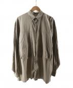 E.TAUTZ(イートーツ)の古着「オーバーサイズシャツ」|ベージュ