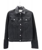 HELMUT LANG(ヘルムートラング)の古着「コーティングブラックデニムジャケット」|ブラック