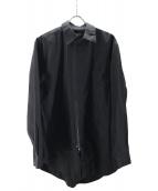 ()の古着「ジップシャツ」 ブラック