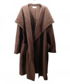 TROVE(トローブ)の古着「フーデットガウンコート」|ブラウン