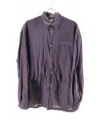 E.TAUTZ(イートーツ)の古着「オーバーサイズシャツ」 ネイビー