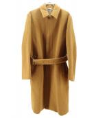 AURALEE(オーラリー)の古着「ビーバーメルトンステンカラーコート」|キャメル