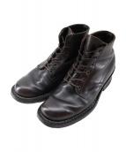 WHITES BOOTS(ホワイツ ブーツ)の古着「セミドレス レースアップブーツ」|ブラウン