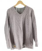 brown 2-tacs(ブラウン バイ ツータックス)の古着「リネン混リバーシブルプルオーバーシャツ」|グレー