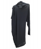 Maison Margiela 1(メゾンマルジェラ1)の古着「変形ニットワンピース」|ブラック