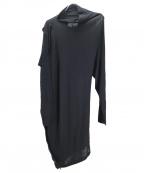 Maison Margiela 1()の古着「変形ニットワンピース」|ブラック