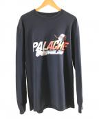 PALACE(パレス)の古着「プリントロングスリーブカットソー」|ネイビー