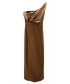 ()の古着「Linea dress」|ブラウン