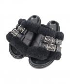 Pippichic(ピッピシック)の古着「ムートンサンダル」|ブラック