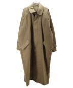 Hed Mayner(ヘド メイナー)の古着「BIGステンカラーコート」|カーキ