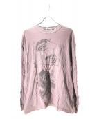 VINTAGE(ヴィンテージ/ビンテージ)の古着「ヴィンテージ騙し絵Tシャツ」|ピンク