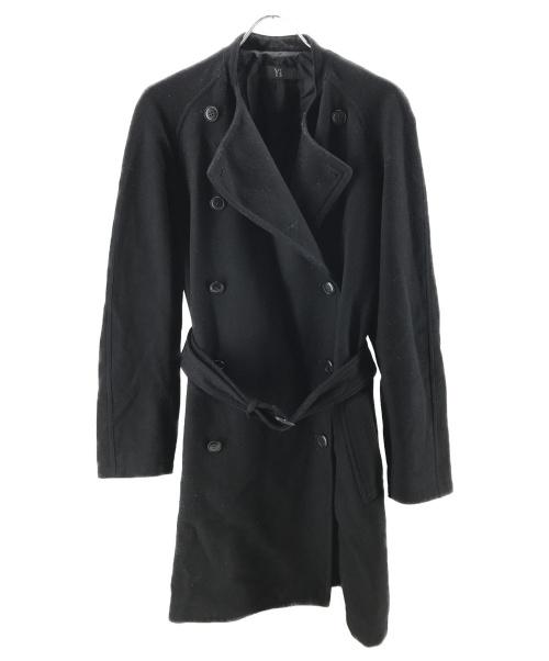 Ys(ワイズ)Ys (ワイズ) ウールコート ブラック サイズ:2の古着・服飾アイテム