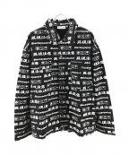 THE BLACK EYE PATCH(ザブラックアイパッチ)の古着「取扱注意カラーデニムジャケット」 ブラック