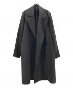 Hed Mayner(ヘド メイナー)の古着「ウールオーバーサイズコ-ト」|ブラック