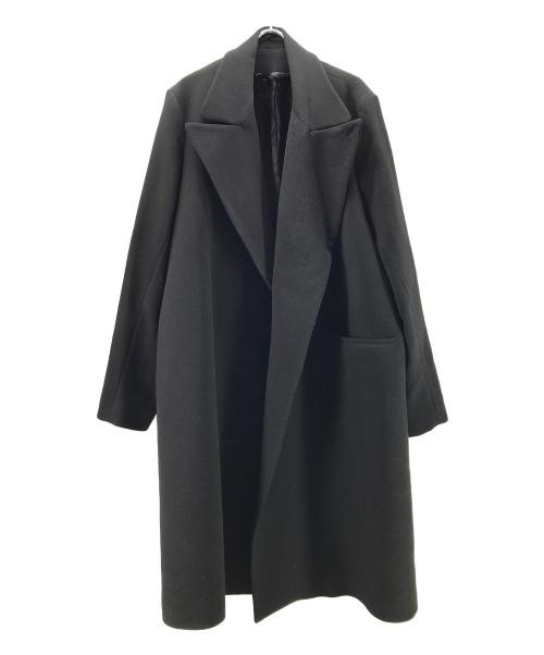 Hed Mayner(ヘド メイナー)Hed Mayner (ヘド メイナー) ウールオーバーサイズコ-ト ブラック サイズ:Sの古着・服飾アイテム