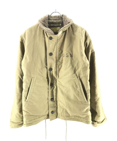 Buzz Ricksons(バズリクソンズ)Buzz Ricksons (バズリクソンズ) N-1デッキジャケット ベージュ サイズ:Lの古着・服飾アイテム