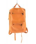 NAOTO SATOH(ナオトサトー)の古着「スクエアバックパック」|オレンジ