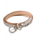 Hender Scheme(エンダースキーマ)の古着「python tail belt/パイソンテールベルト」|ベージュ