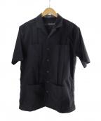 1piu1uguale3(ウノピゥウノウグァーレトレ)の古着「リボンテープキューバシャツ」|ブラック