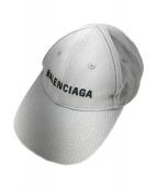 BALENCIAGA(バレンシアガ)の古着「ロゴベースボールキャップ」|グレー