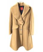 V.W. RED LABEL(ヴィヴィアンウエストウッドレッドレーベル)の古着「オーブボタンウールコート」|ベージュ